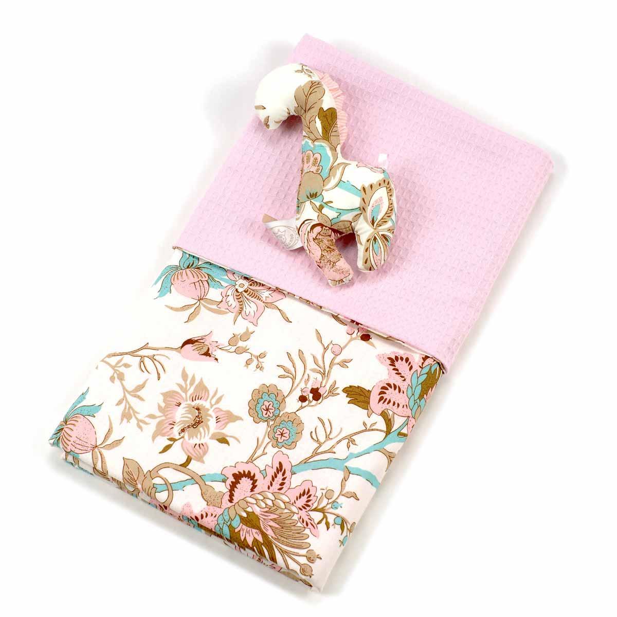Κουβέρτα Πικέ Κούνιας Ninna Nanna Sweet Floral