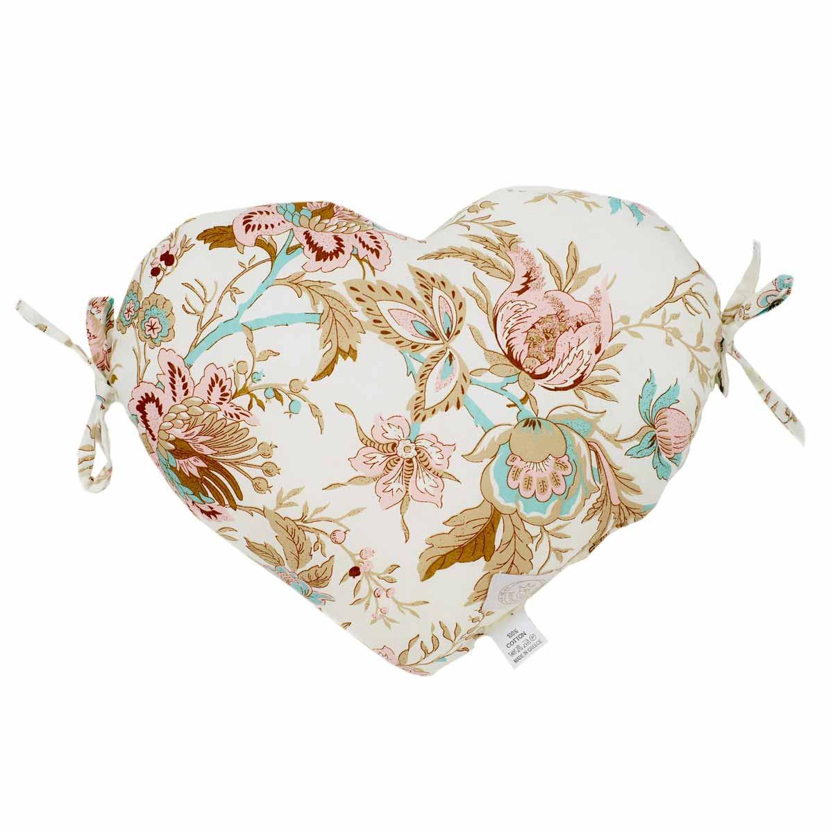 Προστατευτικό Μαξιλάρι Κούνιας Ninna Nanna Sweet Floral Καρδιά