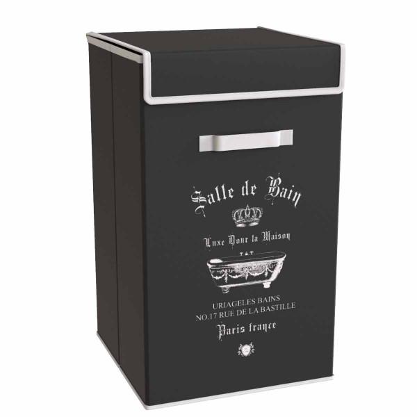 Καλάθι Απλύτων (30x30x60) Estia Salle De Bain Black 02-5986
