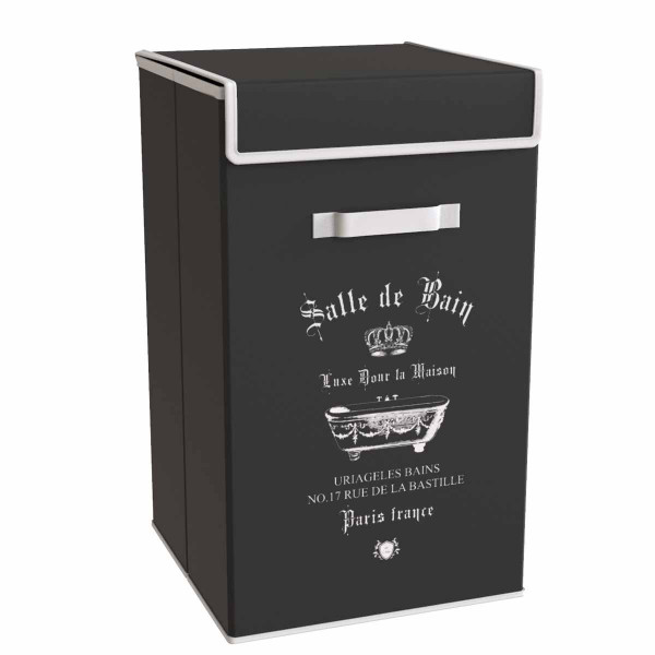 Καλάθι Απλύτων Estia Salle De Bain Black 02-5986