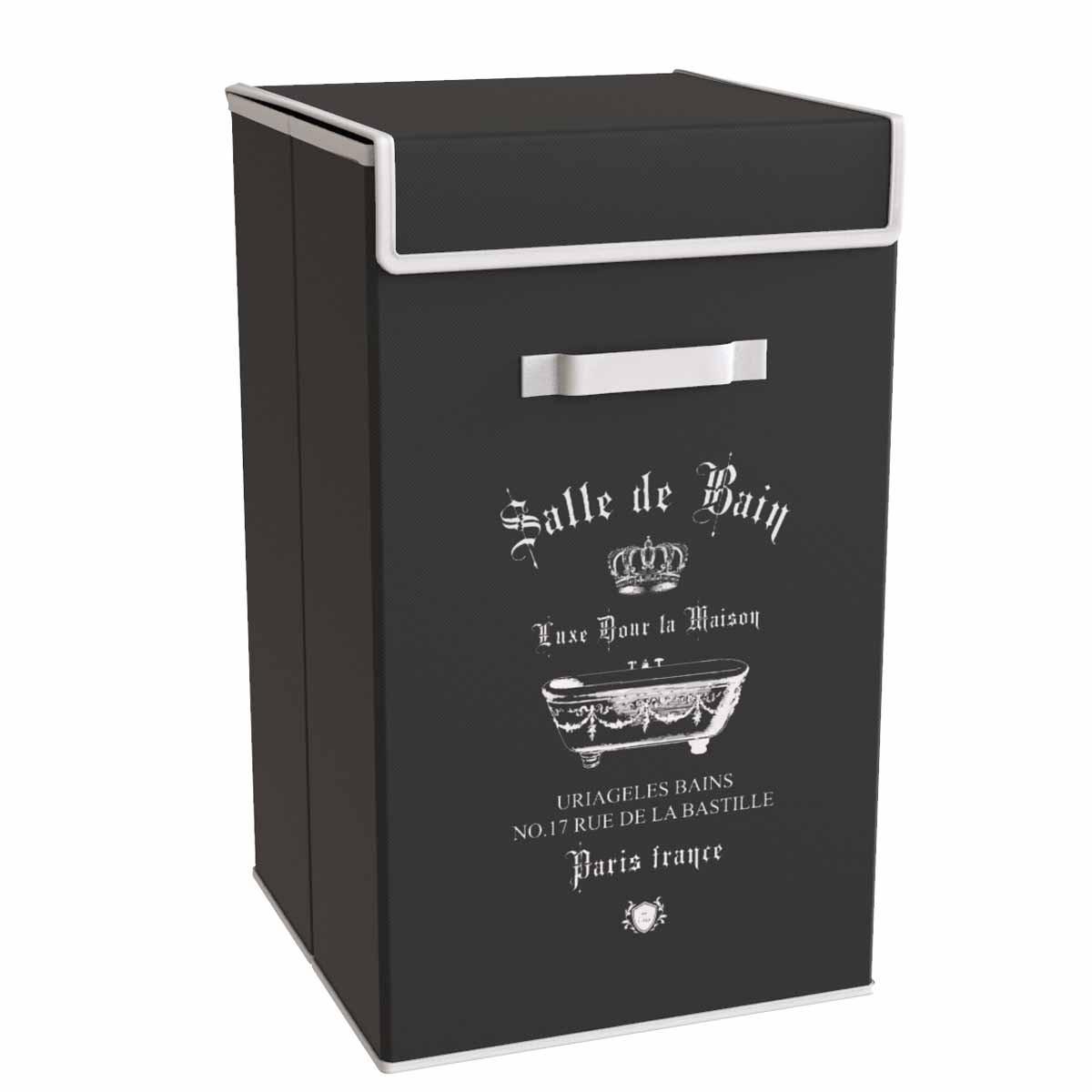 Καλάθι Απλύτων εstia Salle De Bain Black 02-5986
