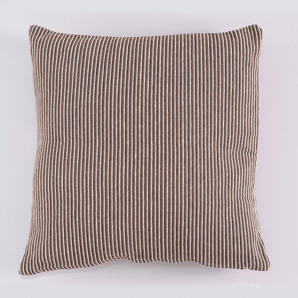 Διακοσμητική Μαξιλαροθήκη (40×40) Rythmos Franic 03 Καφέ