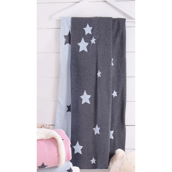 Κουβέρτα Πλεκτή Αγκαλιάς Rythmos Orion Ciel