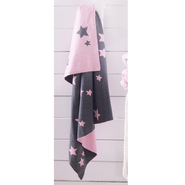 Κουβέρτα Πλεκτή Αγκαλιάς Rythmos Orion Pink
