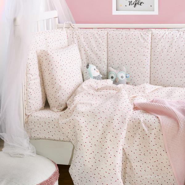 Παπλωματοθήκη Κούνιας (Σετ) Rythmos Tiny Pink