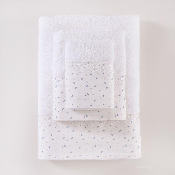 Πετσέτες Μπάνιου (Σετ 3τμχ) Rythmos Tiny Blue