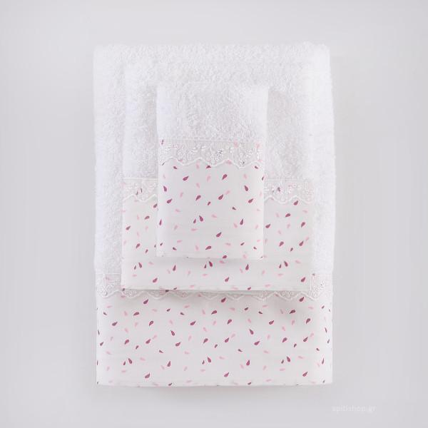 Πετσέτες Μπάνιου (Σετ 3τμχ) Rythmos Tiny Pink