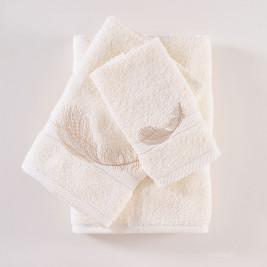 Πετσέτες Μπάνιου (Σετ 3τμχ) Rythmos Rythm Ecru
