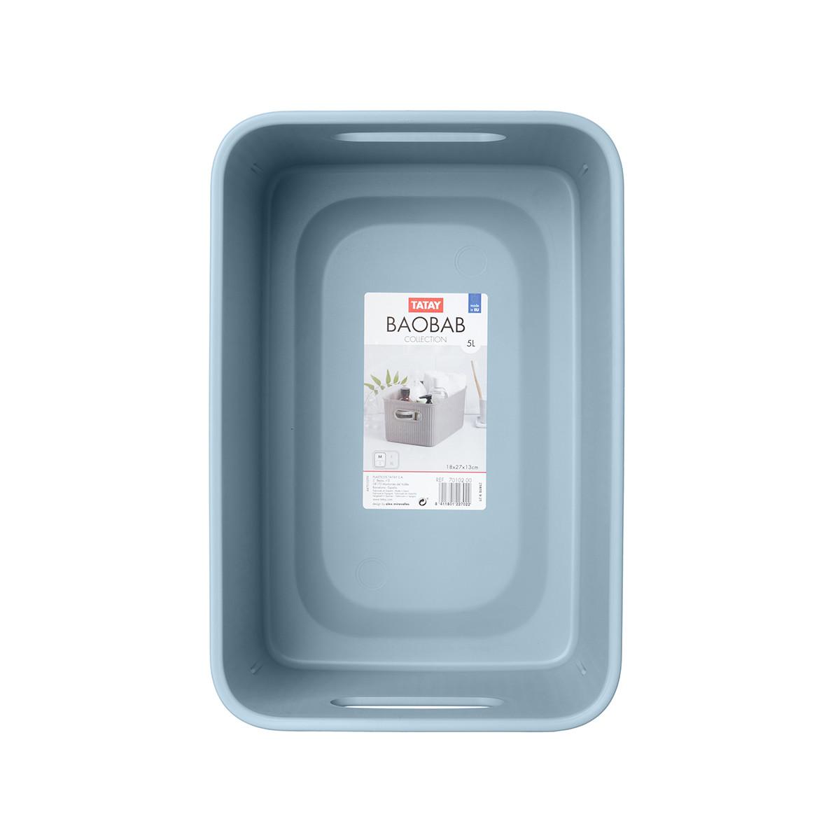 Κουτί Αποθήκευσης Tatay Baobab Medium 70102.00 Blue Mist