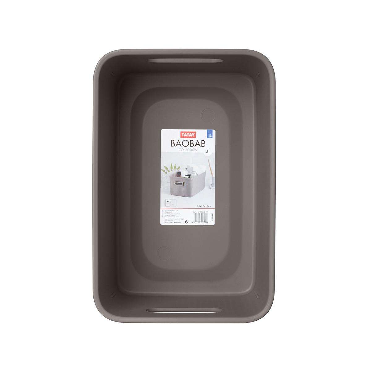 Κουτί Αποθήκευσης Tatay Baobab Medium 70102.05 Brown