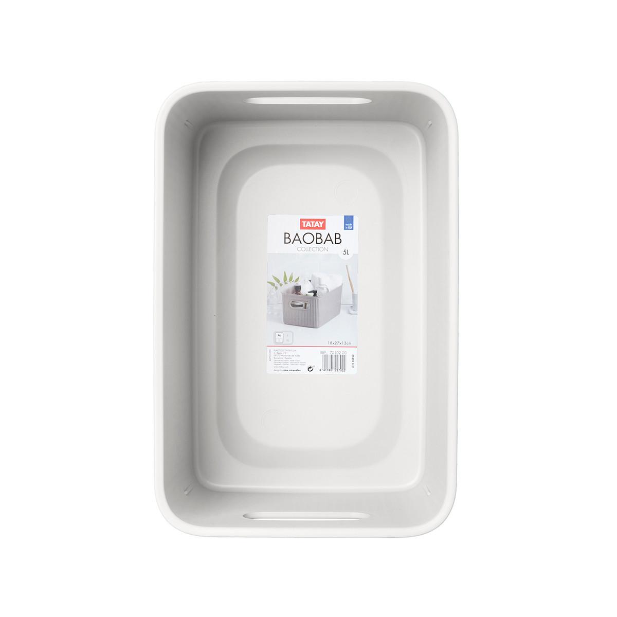 Κουτί Αποθήκευσης Tatay Baobab Medium 70102.01 White
