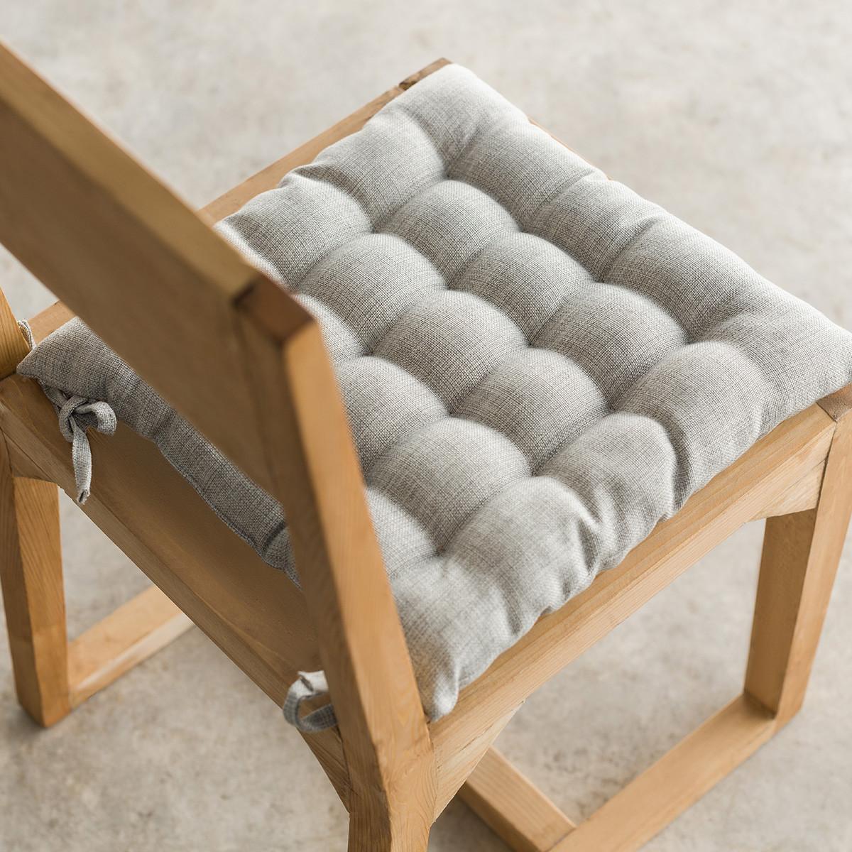 Μαξιλάρι Καρέκλας Gofis Home Hygg L.Grey 213/15