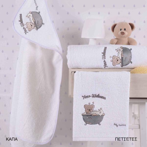 Βρεφικές Πετσέτες (Σετ 2τμχ) Makis Tselios Baby Lolipop