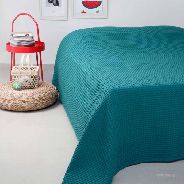 Κουβέρτα Πικέ Διπλή Melinen Patmos Emerald
