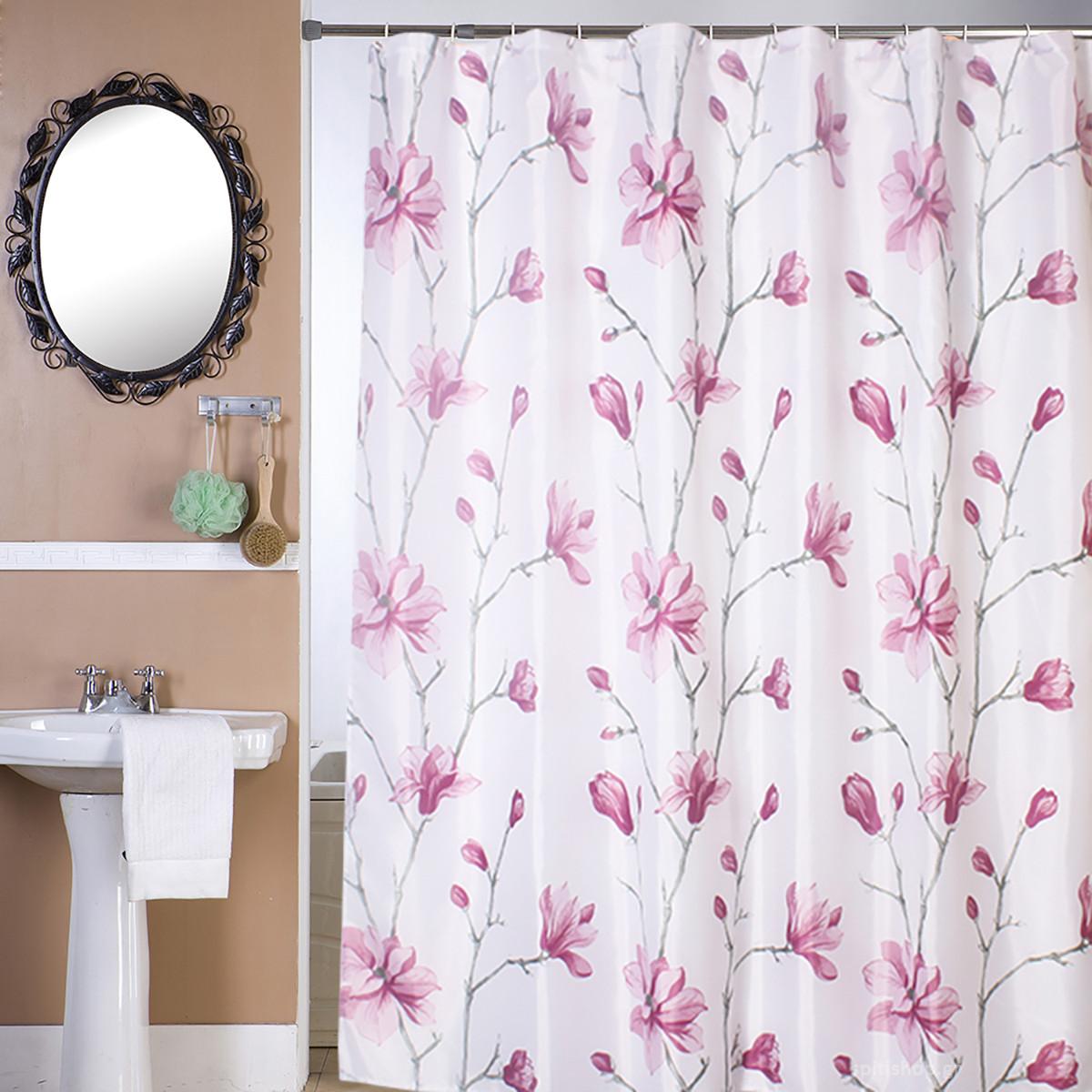 Κουρτίνα Μπάνιου (180×180) Viopros Καμέλια