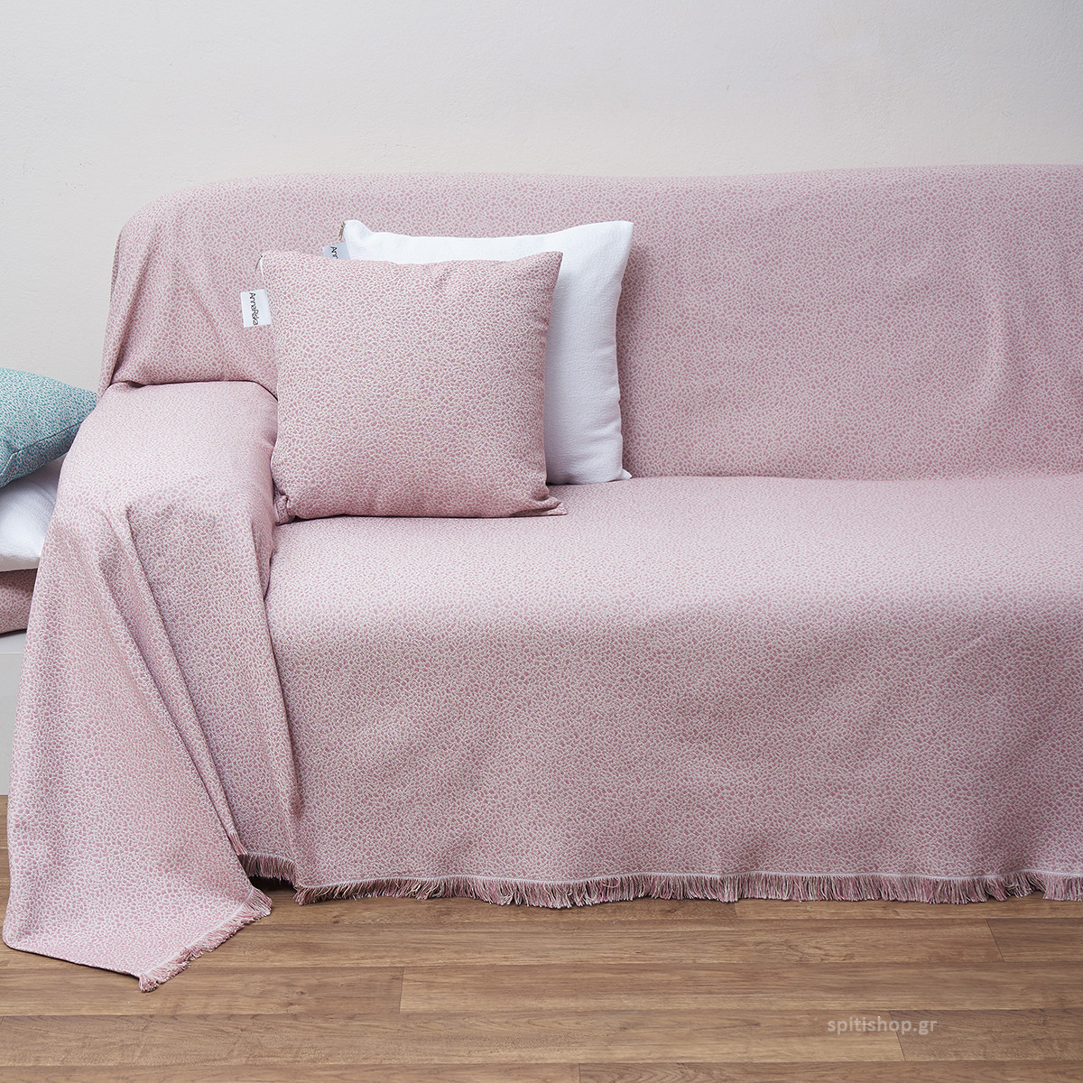 Ριχτάρι Πολυθρόνας (180×180) Anna Riska Des 1554 Blush Pink