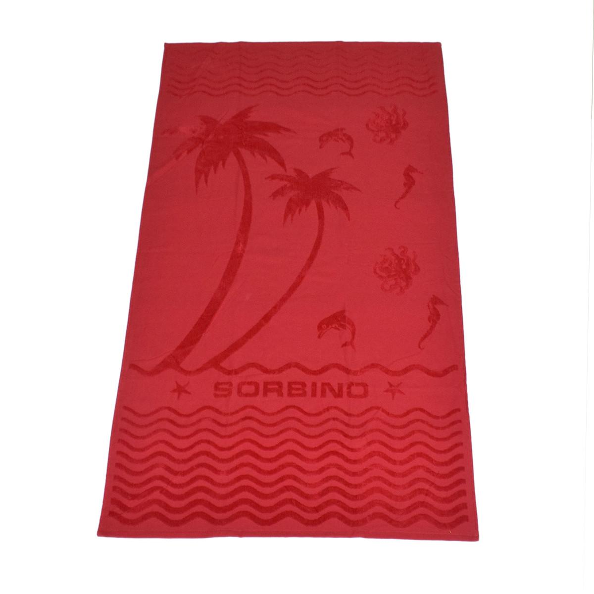 Πετσέτα Θαλάσσης Rythmos PalmTree Red
