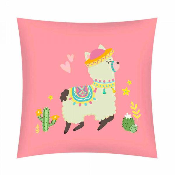 Διακοσμητικό Μαξιλάρι (45x45) Eden Llama Rosa