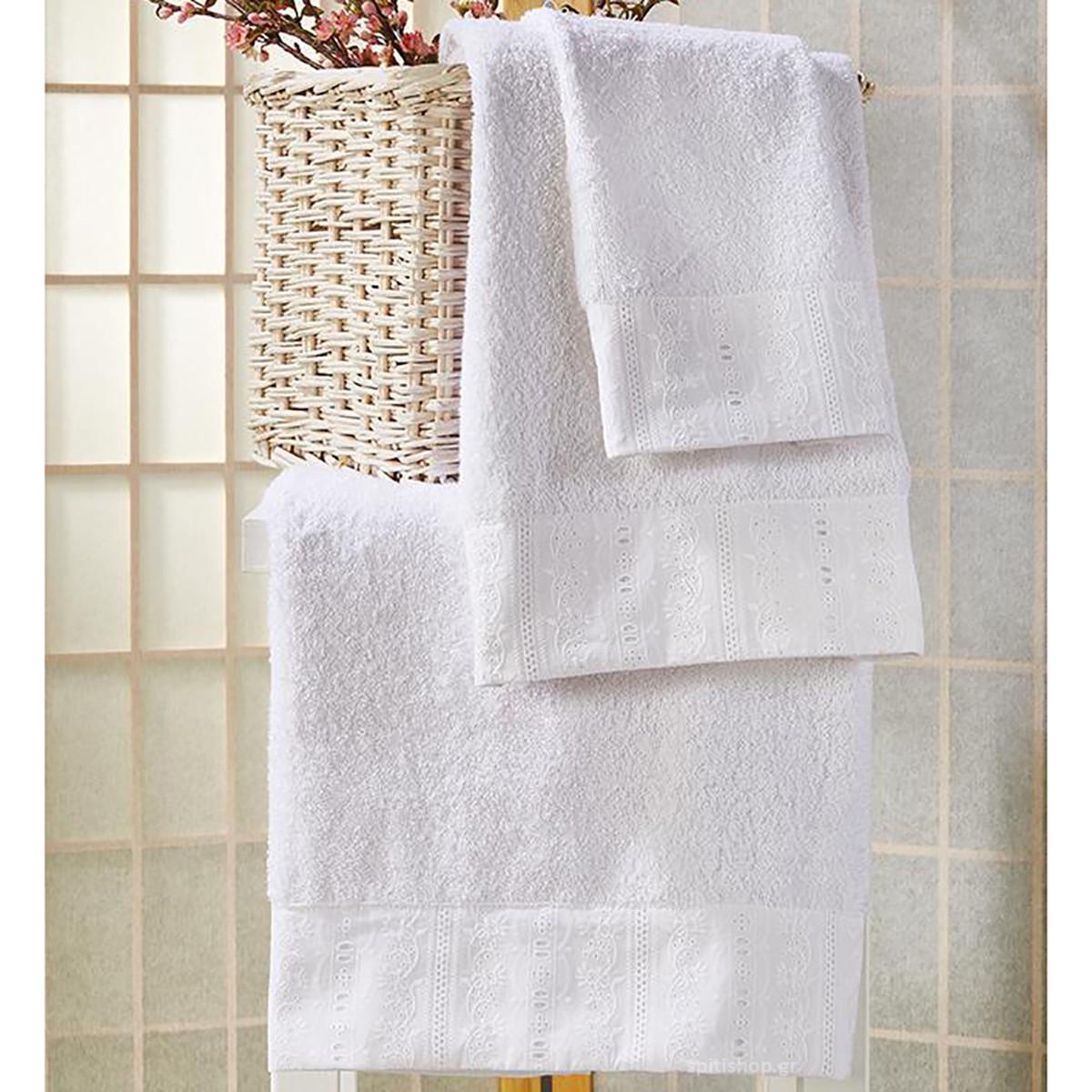 Πετσέτες Μπάνιου (Σετ 3τμχ) White Egg SP1