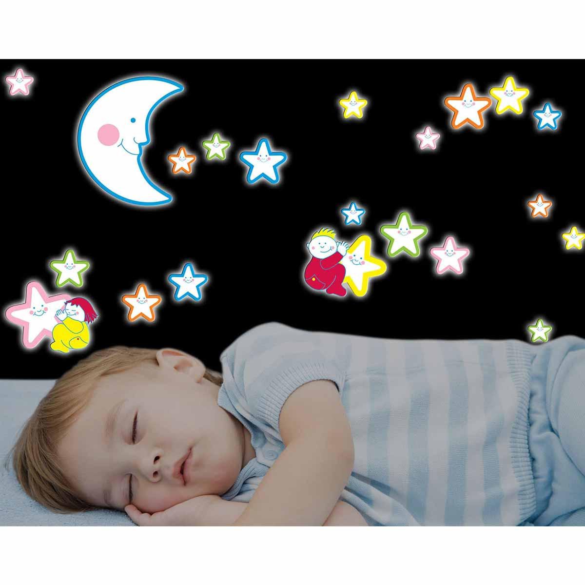 Παιδικά Φωσφοριζέ Αυτοκόλλητα Τοίχου Ango Smiling Stars 18004