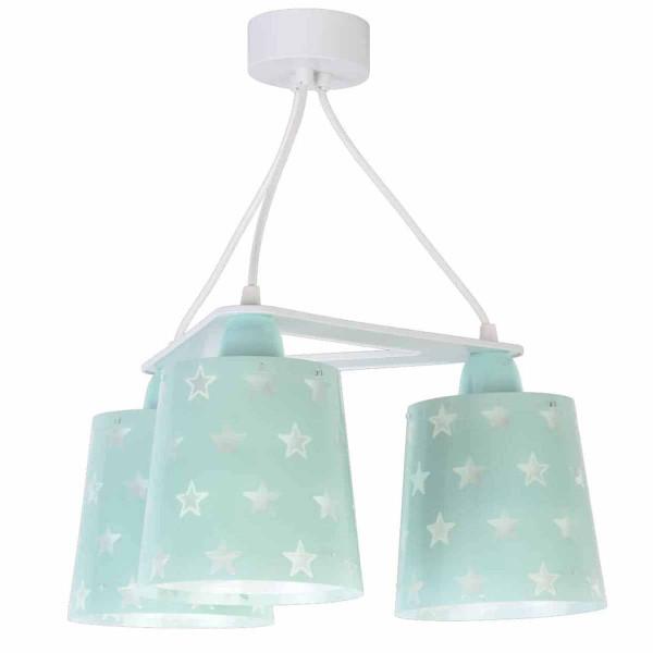 Παιδικό Φωτιστικό Οροφής Τρίφωτο Ango Stars Green 81214 H