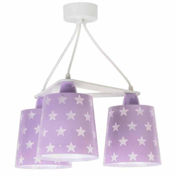 Παιδικό Φωτιστικό Οροφής Τρίφωτο Ango Stars Lilac 81214 L