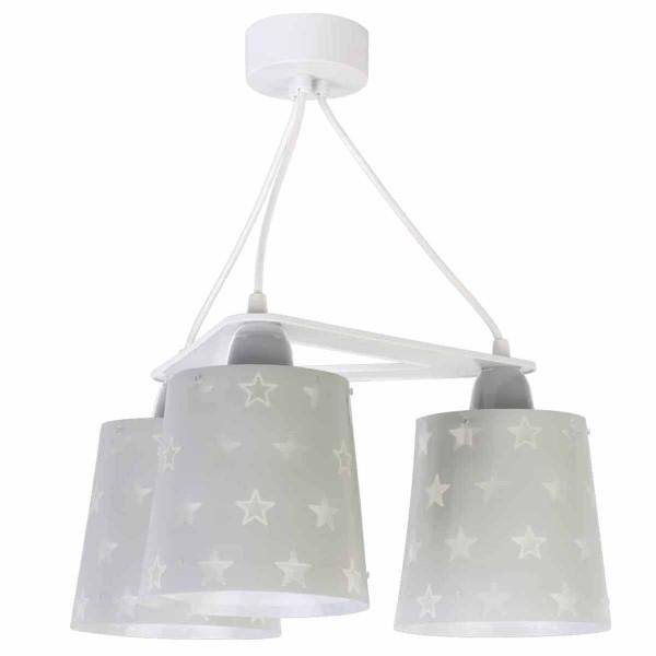 Παιδικό Φωτιστικό Οροφής Τρίφωτο Ango Stars Grey 81214 E