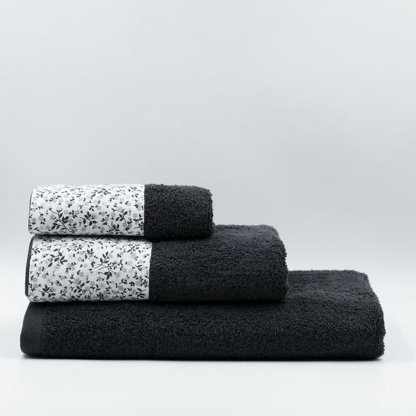 Πετσέτα Προσώπου (50x90) White Fabric Liberty Black