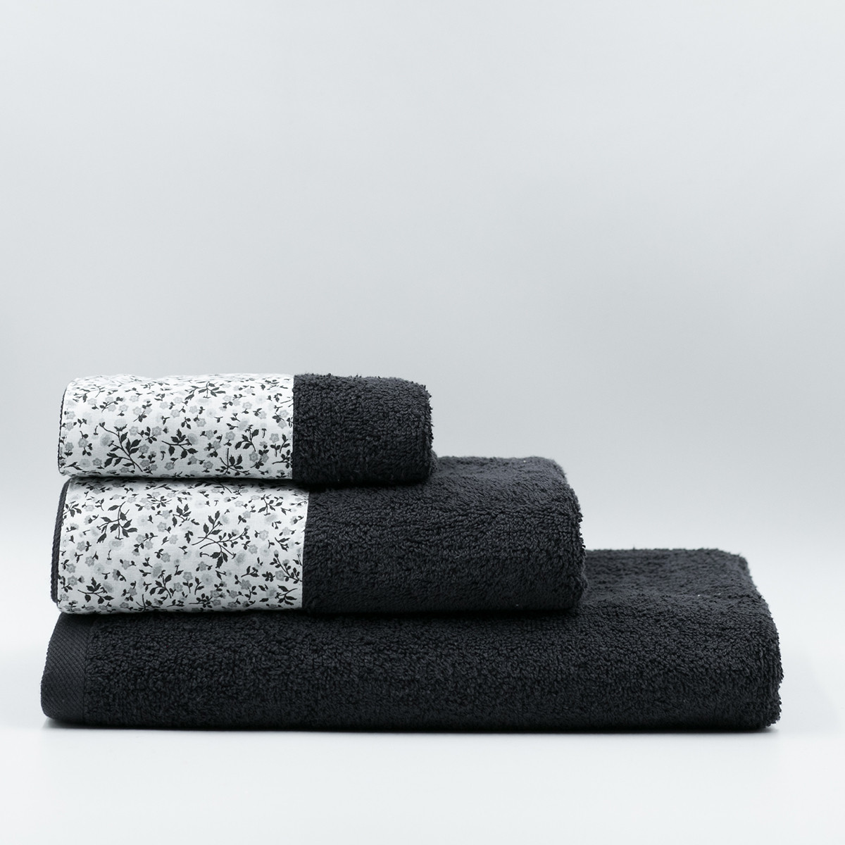 Πετσέτα Σώματος (70×140) White Fabric Liberty Black