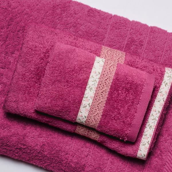 Πετσέτα Χεριών (30x50) White Fabric Maella Pink