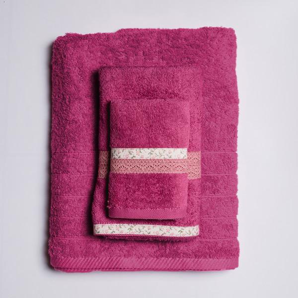 Πετσέτα Σώματος (70x140) White Fabric Maella Pink