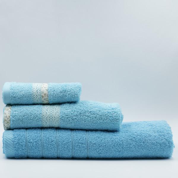 Πετσέτα Χεριών (30x50) White Fabric Maella Blue