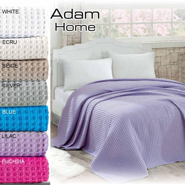 Κουβέρτα Πικέ Υπέρδιπλη AdamHome Waffle