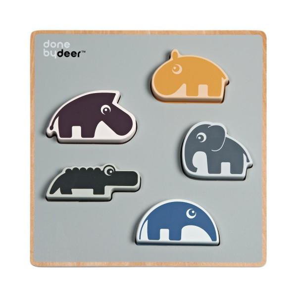 Ξύλινο Παζλ Με 5 Σφηνώματα Done By Deer Chunky Play Deer Friends BR73880
