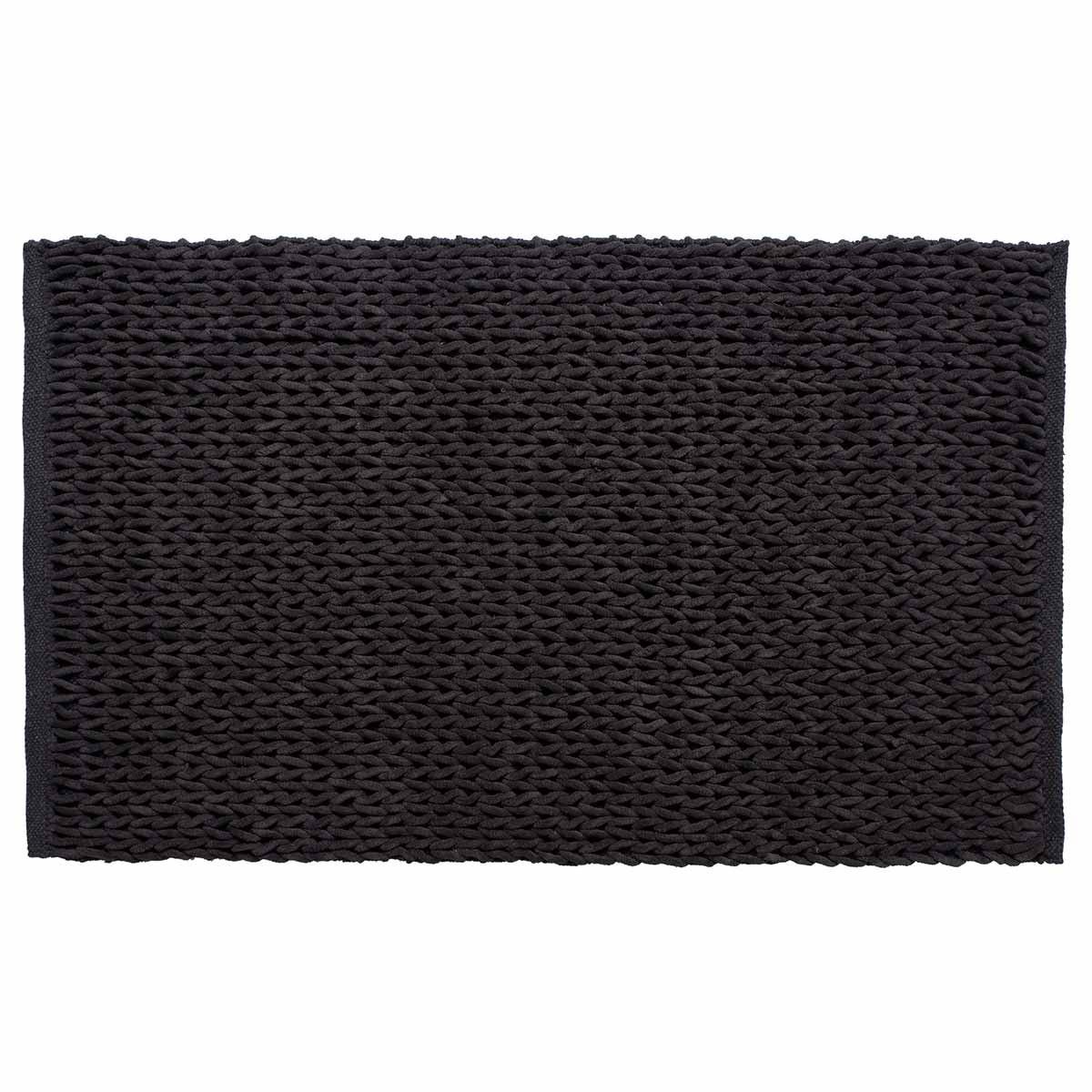 Πατάκι Μπάνιου (60×100) Silk Fashion Αλυσίδα Ανθρακί