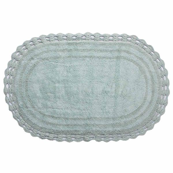 Πατάκι Μπάνιου (60x100) Silk Fashion Οβάλ Mint