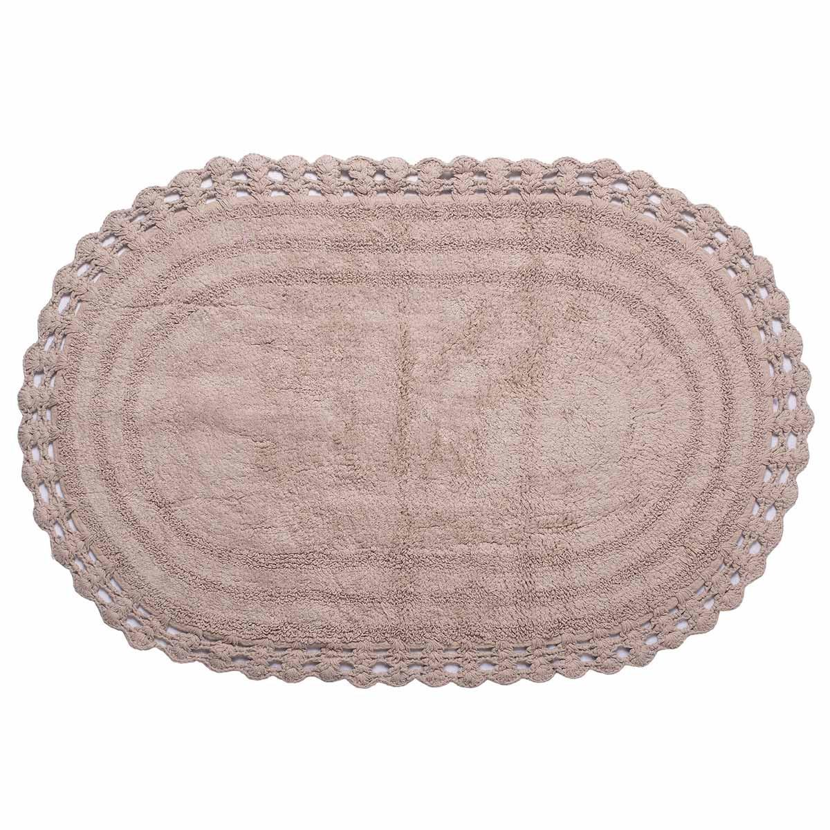 Πατάκι Μπάνιου (60×100) Silk Fashion Οβάλ Πούρου