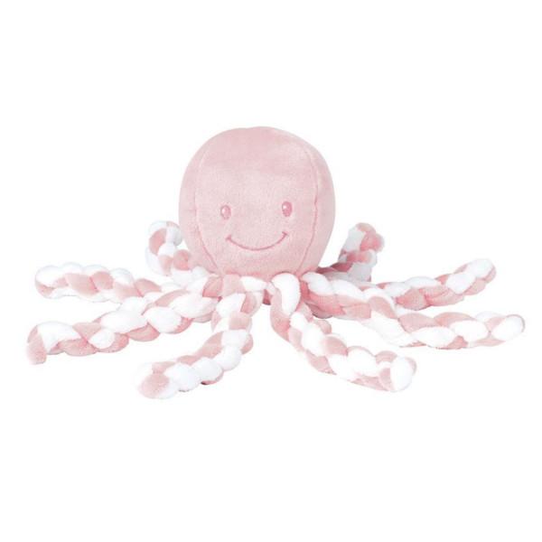 Μαλακό Παιχνίδι Nattou Lapidou Χταπόδι Λευκό/Απαλό Ροζ