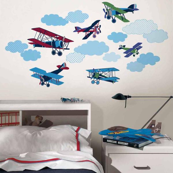 Παιδικά Αυτοκόλλητα Τοίχου WallPops Αεροπλάνα WΡ0629