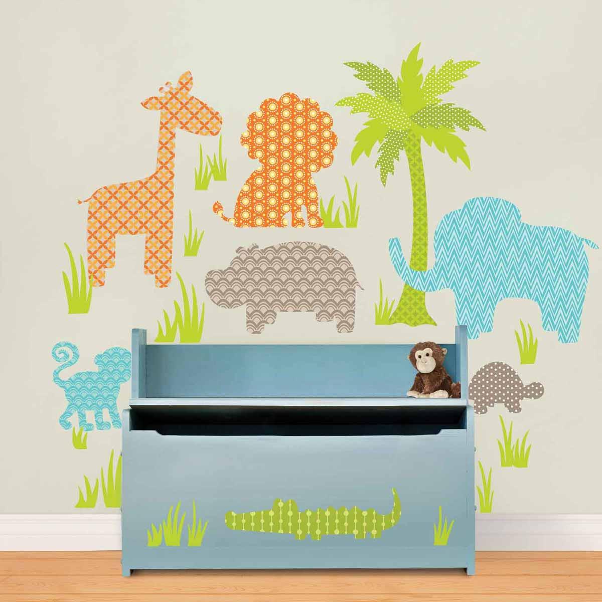 Παιδικά Αυτοκόλλητα Τοίχου WallPops Φιλαράκια Της Ζούγκλας WΡ083