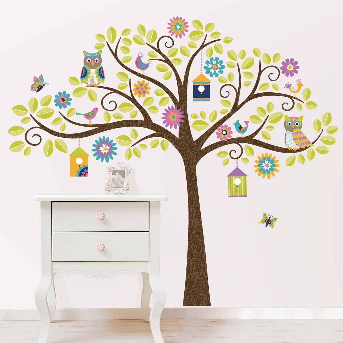 Παιδικό Αυτοκόλλητο Τοίχου WallPops Χαρούμενο Δέντρο WΡ0838