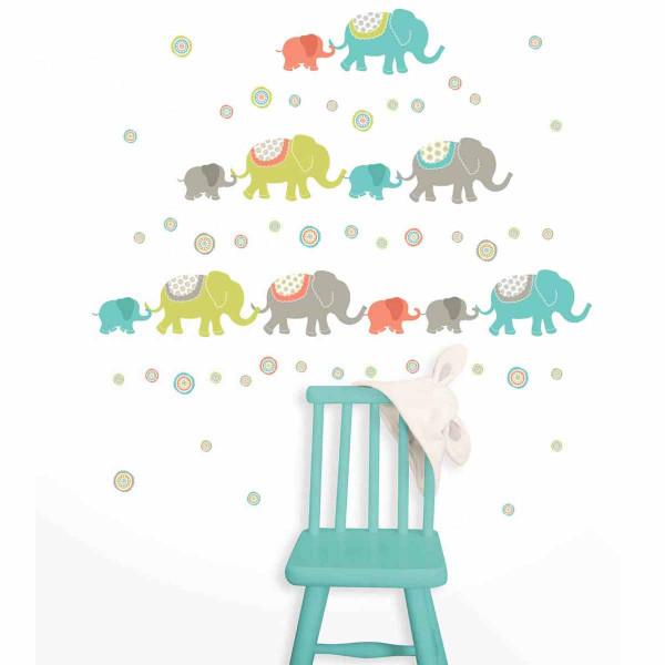 Παιδικά Αυτοκόλλητα Τοίχου WallPops Ινδικοί Ελέφαντες WΡ0841