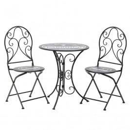 Τραπέζι Με Καρέκλες (Σετ 3τμχ) InArt 3-50-207-0076