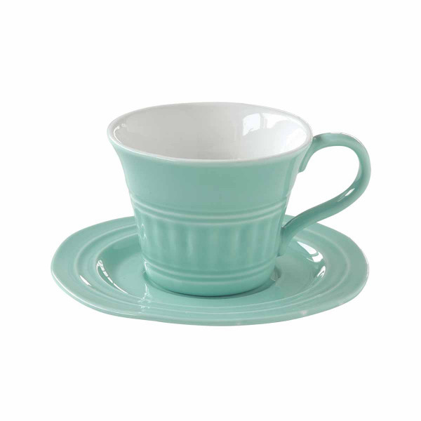 Φλυτζάνι Καφέ + Πιατάκι Marva Abitare Aqua 1867ΑΒΑQ
