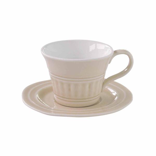 Φλυτζάνι Καφέ + Πιατάκι Marva Abitare Beige 1867ΑΒΒΕ