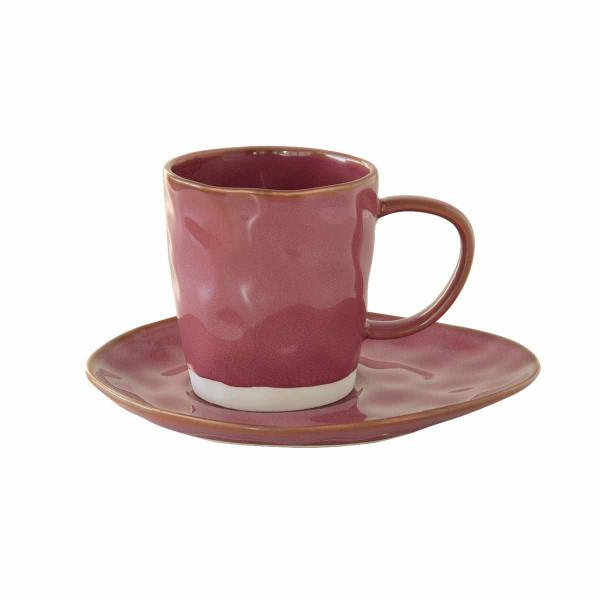 Φλυτζάνι Καφέ + Πιατάκι Marva Interiors Burgundy 2014ΙΝΤU