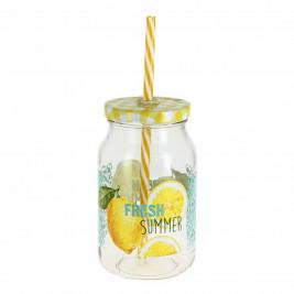 Ποτήρι Με Καλαμάκι Marva Fresh Summer Μ76060
