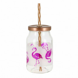 Ποτήρι Με Καλαμάκι Marva Paradise Flamingo Μ78050