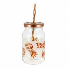Ποτήρι Με Καλαμάκι Marva Paradise Ananas Μ78190