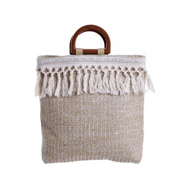 Ψάθινη Τσάντα Θαλάσσης Ble 5-42-151-0081